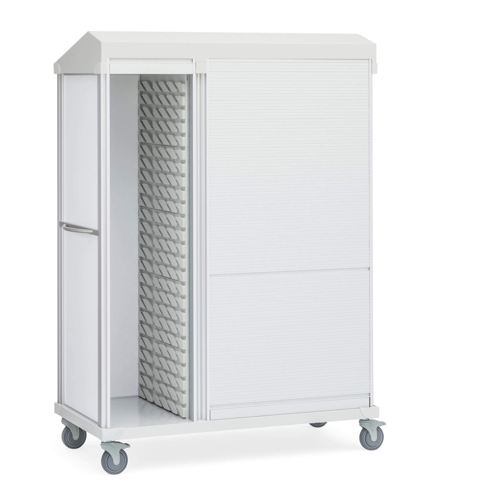 Roam 3 Supply Cart, Roll-Top, 2-Compartment Door Down