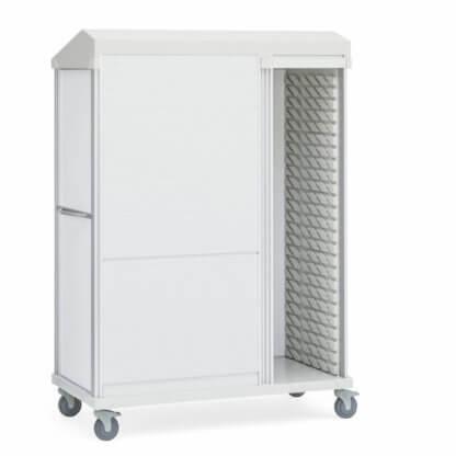 Roam 3 Medical Supply Cart, Roll-Top Doors, Right Column