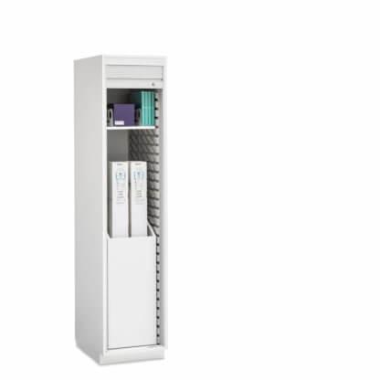 """Evolve Boxed Catheter Cabinet, 19"""" wide, Roll-Top Door"""
