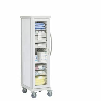 Roam 1 Personal Protective Equipment Cart with Glass Door