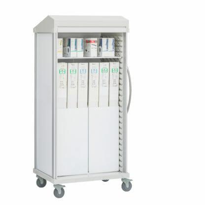 Roam 2 Boxed Catheter Cart with Roll-Top Door